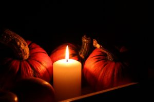 Pumpkin with Candle