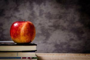 Apple on a Teacher's Desk